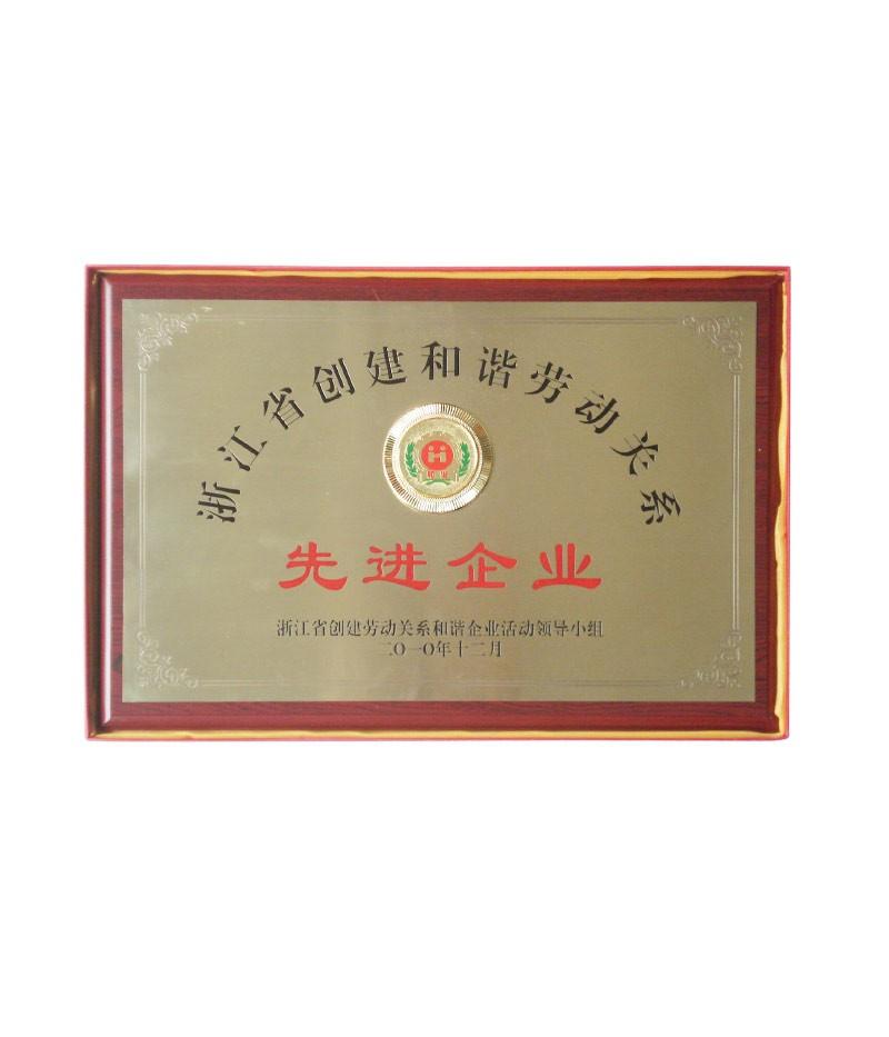 浙江省创建和谐劳动关系(先进企业)