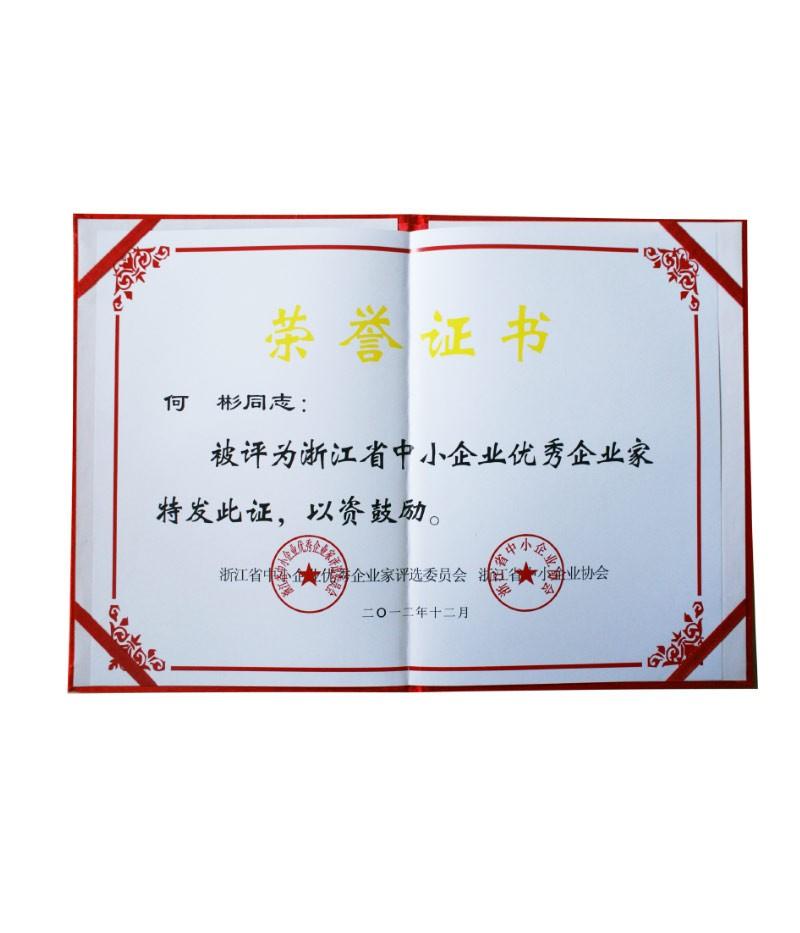浙江省中小企业优秀企业家