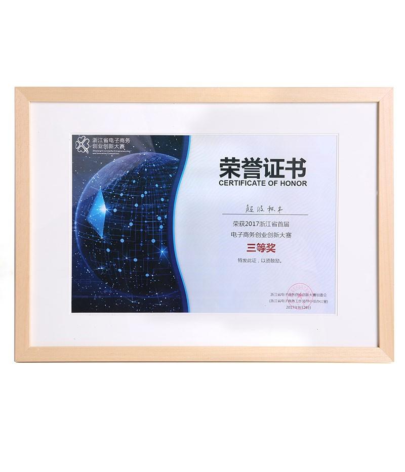 浙江省电子商务创业创新大赛三等奖